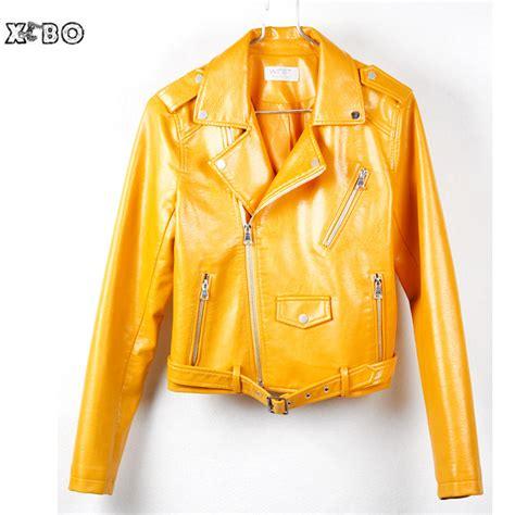 Jaket Suzy Miss A Jaket Semi Kulit Wanita kuning jaket promotion shop for promotional kuning jaket