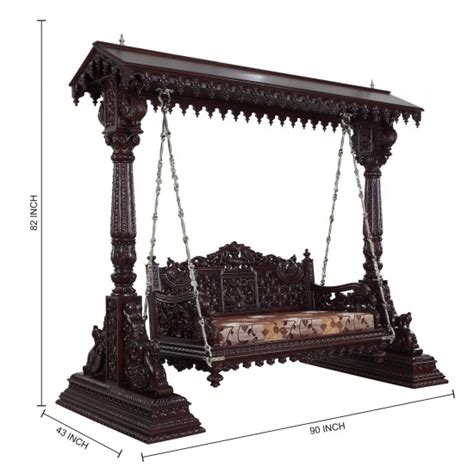 indoor indian swing beautiful carved indian traditional royal swings for usa