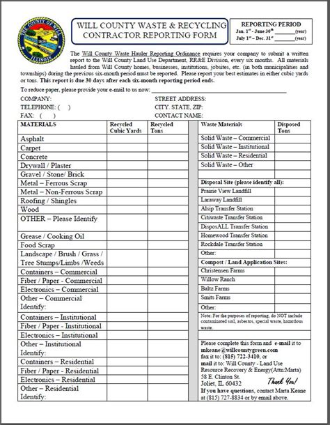 construction waste management report form 28 images