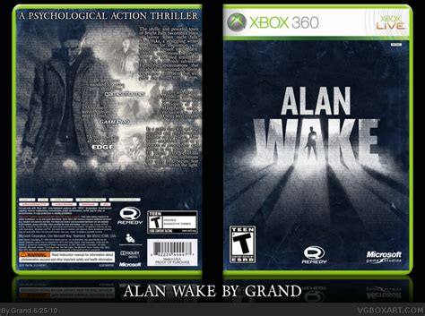 alan walker xbox 360 alan wake xbox 360 box art cover by grand