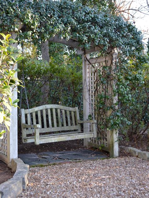 garden arbor swing photos hgtv