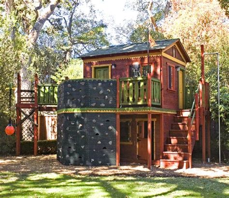 Backyard Treehouse Ideas by Barbara Butler Extraordinary Play Structures For