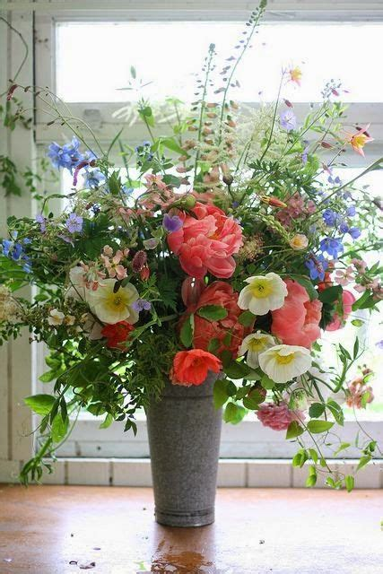 fresh flower arrangement arrangement of poppies and peonies floral