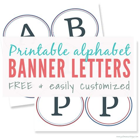 Free Printable Banner Letters For Making A Diy Sign Banner Letter Template