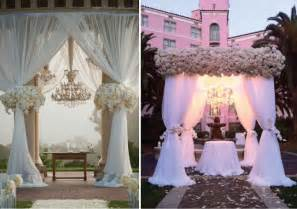Wedding Ceremony Canopy Wedding Ceremony Decor Altars Canopies Arbors Arches And Chuppahs Part 2 Belle The Magazine