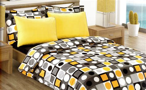 Black And Yellow Bedding Sets Modern Geometric Dot Print Bedding Set In Yellow By Myveralinen