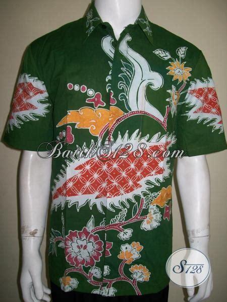 Baut L Kerucut Warna Hijau penjual kemeja batik tulis harga murah terjangkau warna hijau motif bagus ld1539t l toko
