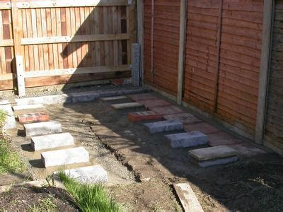 Shed Base On A Slope by Brokie Build A Shed Pad