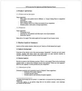 sales business plan template 7 free sle exle