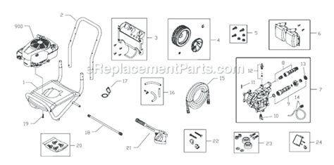 troy bilt pressure washer diagram troy bilt 020381 parts list and diagram