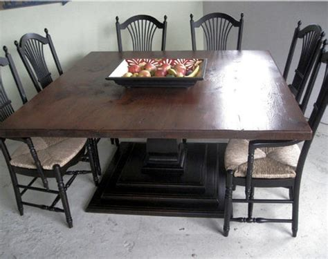 60 x 60 square farm table farmhouse dining tables