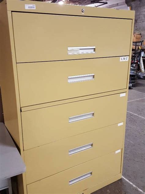 Lateral File Cabinet Hardware All Steel Lateral Filing Cabinet With 5 Drawers And Folder Hanging Hardware Still Installed