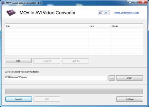 xvid format converter mov to avi video converter convert mov video files to avi