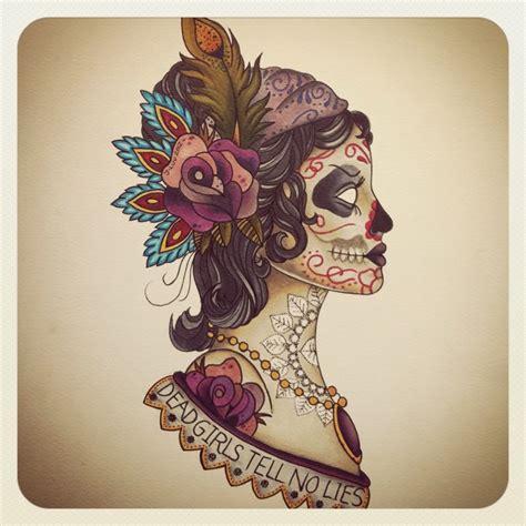 tattoo gypsy girl meaning gypsy head tattoo meaning gypsy head sugar skull ink