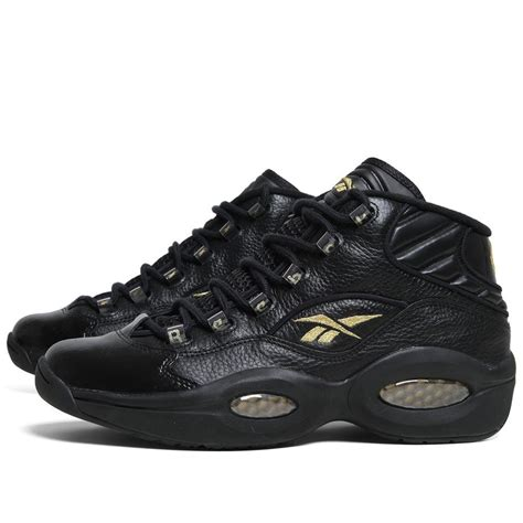 allen iverson question shoes black and gold