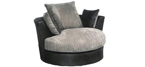 Black And Grey Armchair Swivel Armchair Black And Grey Portobello Cord Black