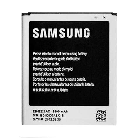 Baterai Hp Grand 2 jual samsung original eb b220ac baterai for galaxy grand 2 2600 mah harga kualitas