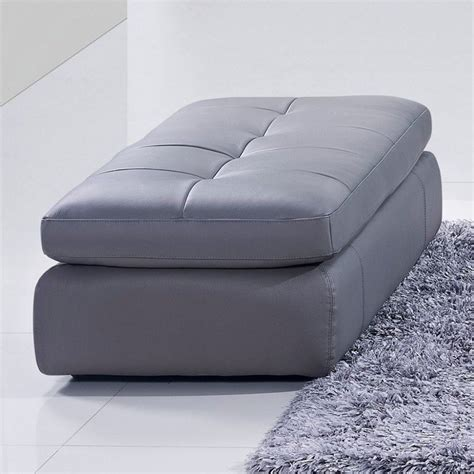 Gray Leather Ottoman J M Furniture 397 Leather Ottoman In Grey 175442912 Ott