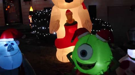blow up boat gif my airblown inflatable christmas display 2013 youtube