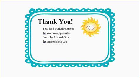 printable thank you notes from teachers to students 6 thank you note exle ganttchart template