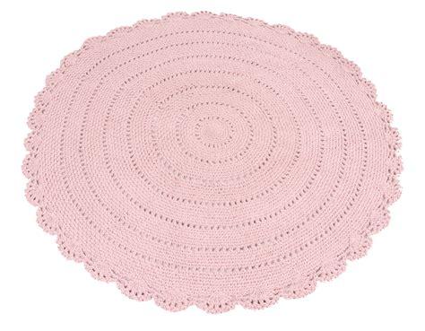 kidsdepot runder strick teppich roundy rosa 216 110cm bei - Runder Rosa Teppich