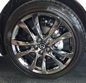 black chrome wheels on a 2014 mazda6 cars