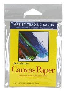 strathmore cards templates strathmore artist trading card pack of 10 canvas paper