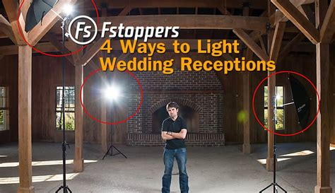 light stand for off camera flash fstoppers tutorial how to light wedding reception venues