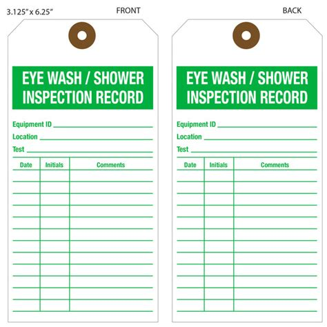 Dijamin Clear St Hanging Tags custom printed eyewash inspection hang tags st louis tag