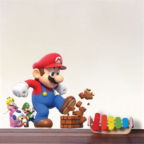 mario bros stickers wall mario wall stickers home design