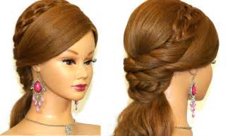 the hairstyle of the easy prom hairstyle for long hair tutorial youtube