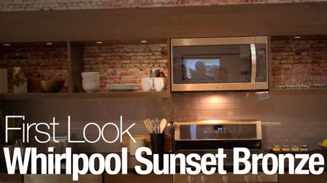 up close with whirlpool s new sunset bronze finish whirlpool says stainless is out sunset bronze is in