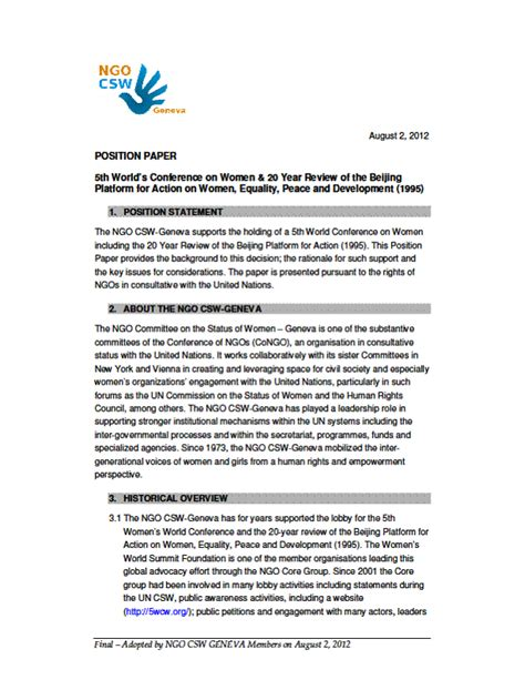 writing position paper model un how to write a position paper
