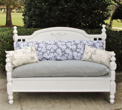 bench from headboard and footboard hand made shabby chic bench recycled from old headboard