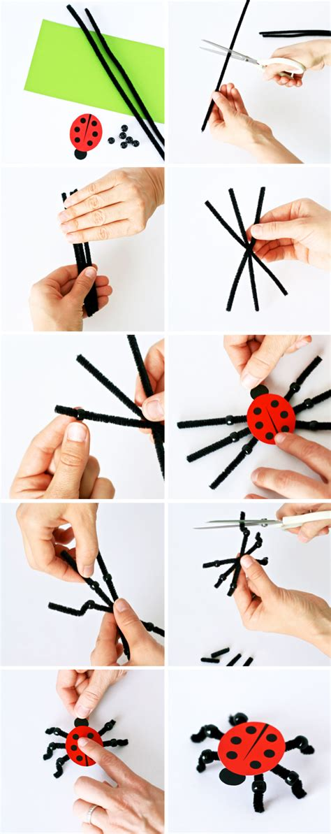 How To Make Paper Ladybugs - crafts make a pet ladybug