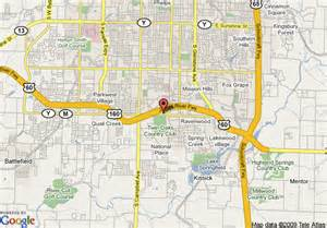 Comfort Inn Suites Springfield Mo Map Of Candlewood Suites South Springfield