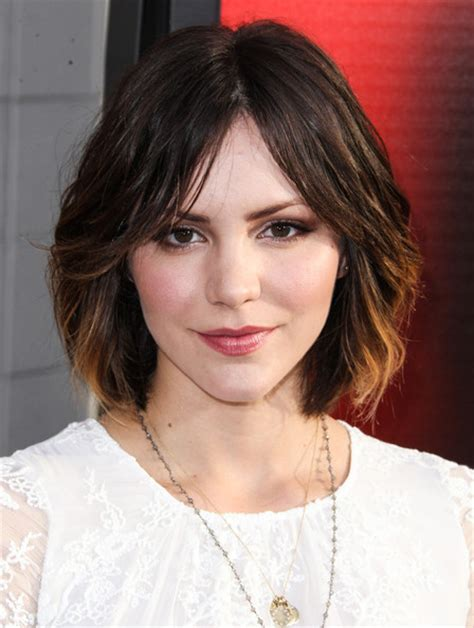 medium hair split down middle hair celebrity bob hairstyles 20 fabulous short bob haircuts