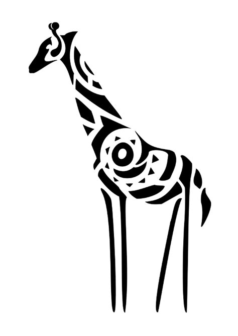 giraffe tribal tattoo of giraffe originality change of perspective