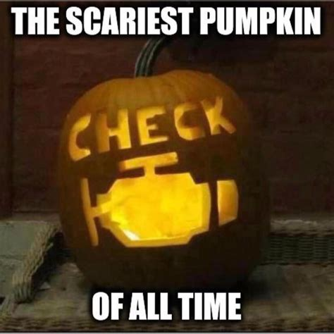 Pumpkin Meme - check engine light pumpkin crafts pinterest humor