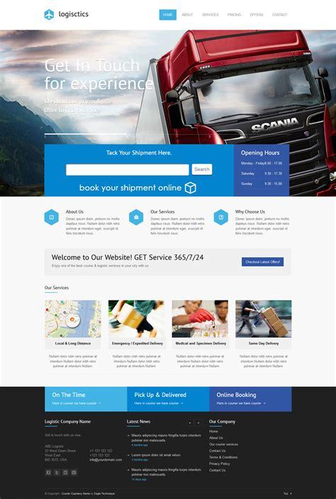 Courier Software Templates Templates Design For Courier Company Logistic Company Templates Courier Website Template
