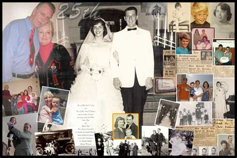 Wedding Anniversary Outing Ideas photo collage 25th anniversary collage gift ideas for