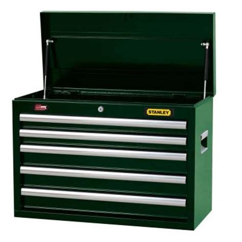 Stanley 5 Drawer Tool Chest by Stanley 26 In 5 Drawer Wide Tool Chest In Green