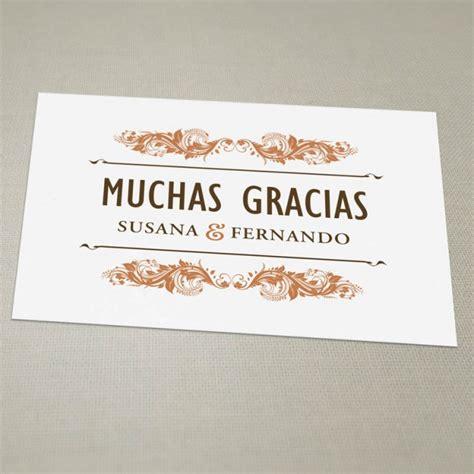 iban banco pastor tarjeta de agradecimiento vintage una boda original
