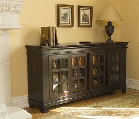 Sliding Door Buffet Cabinet Sliding Door Buffet Cabinet Rustic Wood Accent Furniture In Mahogany Finish 6058