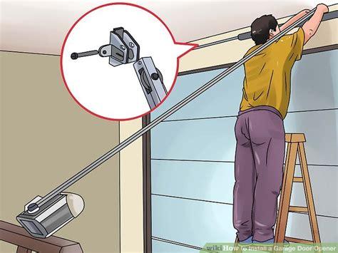 how do you install a garage door opener how to install a garage door opener techpaintball