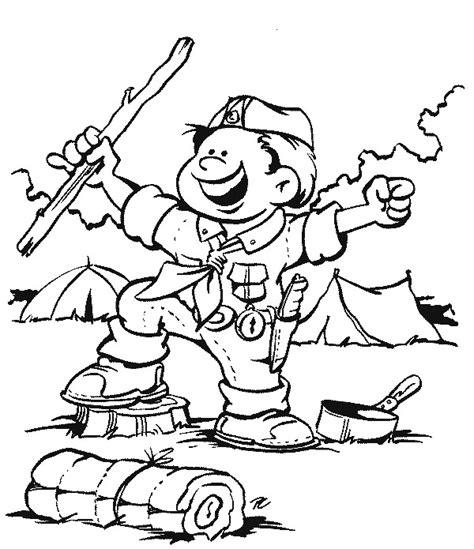 bear scout coloring pages kleurplaten en zo 187 kleurplaten van scouting