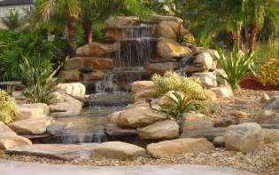 backyard waterfall designs waterfalls striking complement to backyard layout