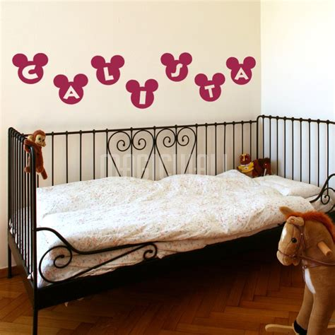 personalized name wall stickers wall stickers mickey personalized name wall decals canada