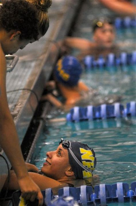 section 9 swimming section 9 chionships monroe woodbury leads after swim