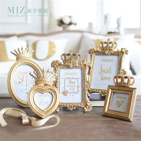 gold crown versailles photography art crown home decor online buy wholesale photo frame from china photo frame